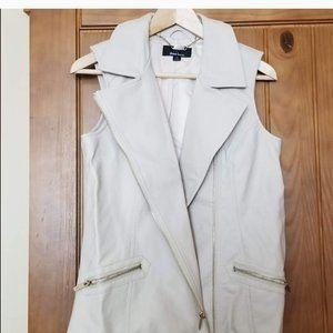3 for $9/ faux leather biker-style vest